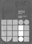 URI Graduate School Course Catalog 1973-1974