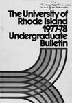 URI Undergraduate Course Catalog 1977-1978 by University of Rhode Island