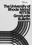 URI Graduate School Course Catalog 1977-1978 by University of Rhode Island