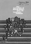 URI Graduate School Course Catalog 1978-1979 by University of Rhode Island