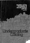 URI Undergraduate Course Catalog 1979-1980 by University of Rhode Island