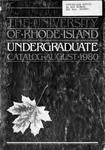 URI Undergraduate Course Catalog 1980-1981 by University of Rhode Island