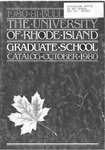 URI Graduate School Course Catalog 1980-1981 by University of Rhode Island