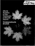 URI Undergraduate Course Catalog 1981-1982 by University of Rhode Island