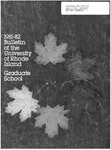 URI Graduate School Course Catalog 1981-1982 by University of Rhode Island