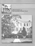 URI Undergraduate Course Catalog 1986-1987 by University of Rhode Island