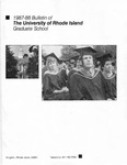 URI Graduate School Course Catalog 1987-1988 by University of Rhode Island