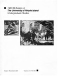 URI Undergraduate Course Catalog 1987-1988 by University of Rhode Island