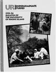 URI Undergraduate Course Catalog 1993-1994
