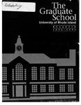 URI Graduate School Catalog 1994-1995