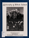 The Freshman Record : The University of Rhode Island by The Interfraternity/Panhellenic Councils
