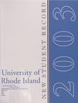 New Student Record : The University of Rhode Island
