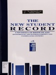 The New Student Record : The University of Rhode Island