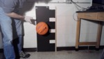 Video 6.16: Under-inflated Basketball dropped from a height of 1 meter