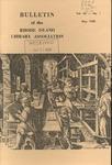 Bulletin of the Rhode Island Library Association v. 40, no. 1