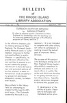 Bulletin of the Rhode Island Library Association v. 44, no. 3
