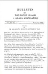 Bulletin of the Rhode Island Library Association v. 44, no. 7
