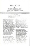 Bulletin of the Rhode Island Library Association v. 44, no. 8
