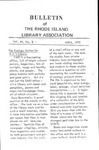Bulletin of the Rhode Island Library Association v. 44, no. 9