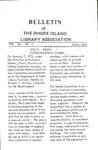 Bulletin of the Rhode Island Library Association v. 45, no. 1