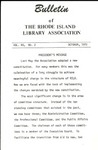 Bulletin of the Rhode Island Library Association v. 45, no. 2