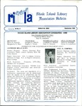 Bulletin of the Rhode Island Library Association v. 59, no. 9 (incorrect v. 60, no. 8 on newsletter) by RILA