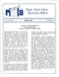 Bulletin of the Rhode Island Library Association v. 59, no. 12 by RILA