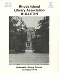 Bulletin of the Rhode Island Library Association v. 51, no. 4