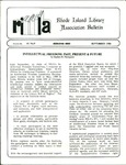 Bulletin of the Rhode Island Library Association v. 61, no. 9