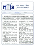 Bulletin of the Rhode Island Library Association v. 62, no. 3