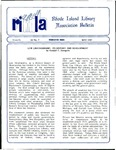 Bulletin of the Rhode Island Library Association v. 62, no. 5