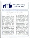 Bulletin of the Rhode Island Library Association v. 62, no. 5 by RILA
