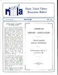 Bulletin of the Rhode Island Library Association v. 63, no. 6