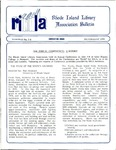 Bulletin of the Rhode Island Library Association v. 63, no. 7-8