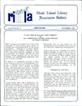Bulletin of the Rhode Island Library Association v. 63, no. 9 by RILA