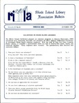 Bulletin of the Rhode Island Library Association v. 63, no. 10
