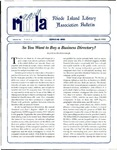 Bulletin of the Rhode Island Library Association v. 64, no. 3