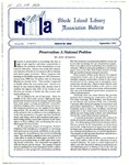 Bulletin of the Rhode Island Library Association v. 64, no. 9