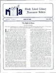 Bulletin of the Rhode Island Library Association v. 65, no. 5