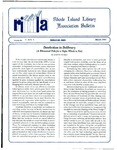 Bulletin of the Rhode Island Library Association v. 66, no. 3