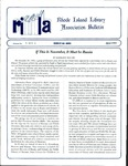 Bulletin of the Rhode Island Library Association v. 66, no. 4