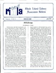Bulletin of the Rhode Island Library Association v. 66, no. 6