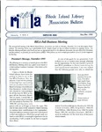 Bulletin of the Rhode Island Library Association v. 66, no. 11-12 (incorrect no. on newsletter)