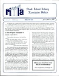 Bulletin of the Rhode Island Library Association v. 67, no. 1-2