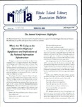 Bulletin of the Rhode Island Library Association v. 67, no. 7-8 (incorrect volume 68 on newsletter)
