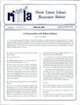 Bulletin of the Rhode Island Library Association v. 67, no. 9-10 (incorrect volume 68 on newsletter)