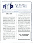 Bulletin of the Rhode Island Library Association v. 67, no. 11-12 (incorrect volume 68 on newsletter)