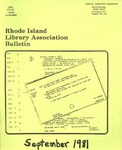 Bulletin of the Rhode Island Library Association v. 53, no. 12 (v. 54, no. 1 ?) by RILA