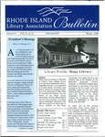 Bulletin of the Rhode Island Library Association v. 72, no. 10-12 (Fall 1999 ? says Winter 1999 by RILA