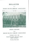 Bulletin of the Rhode Island Library Association v. 37, no. 1